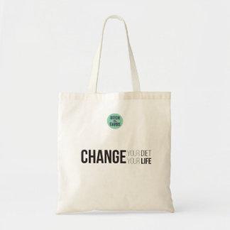 Changez votre changement de régime votre vie sac en toile budget