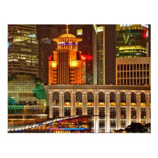 Changhaï la nuit carte postale
