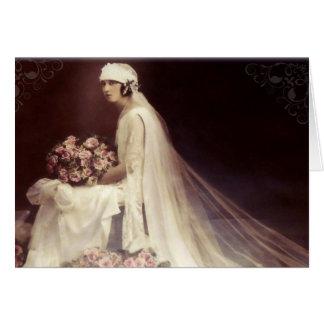 Chanson antique romantique de mariage de carte de