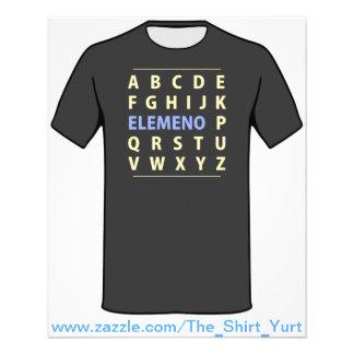 Chanson d'Alphapbet ELEMENO de l'anglais Prospectus 11,4 Cm X 14,2 Cm