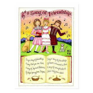 Chanson de carte postale inspirée d'amitié
