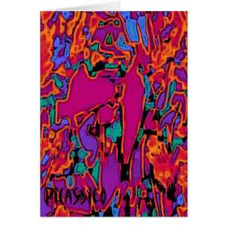 Chanson de torche colorée de carte de note d'art