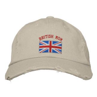Chapeau brodé par maman britannique