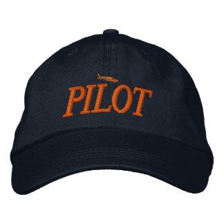 Chapeau brodé par pilote d'avion