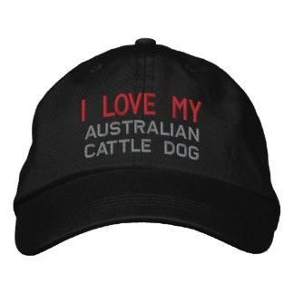 Chapeau brodé par race australienne de chien de
