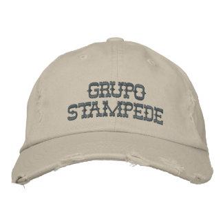Chapeau brodé par ruée