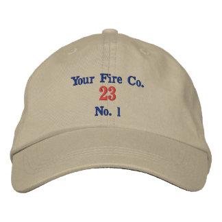 Chapeau de caserne de pompiers - brodé casquette de baseball