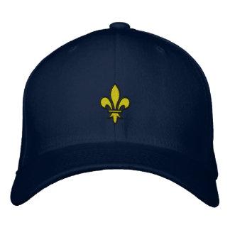 Chapeau de Fleur De Lis Embroidered Casquettes De Baseball Brodées