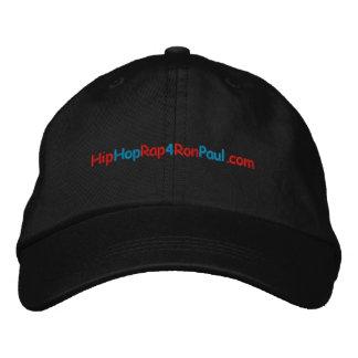 Chapeau de HipHopRap4RonPaul-Embroidered Chapeaux Brodés