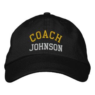 Chapeau d'entraîneur brodé par coutume casquette de baseball brodée