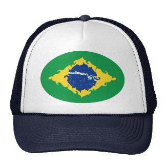 Chapeau Gnarly de drapeau du Brésil Casquettes