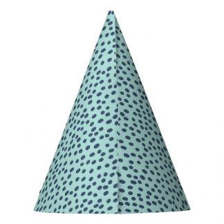 Chapeaux De Fètes Bleu sur le casquette de partie pointillé par bleu