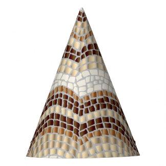 Chapeaux De Fètes Casquette beige de partie de mosaïque