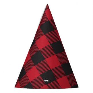 Chapeaux De Fètes Casquettes rouges de partie de plaid de Buffalo