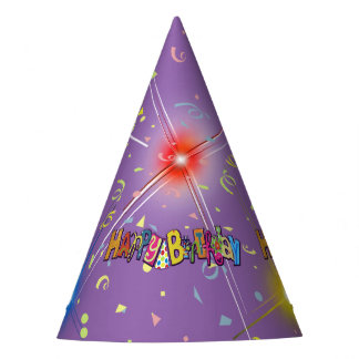 Chapeaux De Fètes Confettis de joyeux anniversaire d'amusement