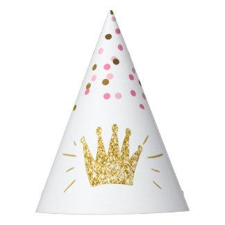 Chapeaux De Fètes Couronne d'or de rose de casquette de papier de