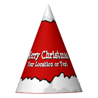 Chapeaux De Fètes Fête de Noël du casquette de Père Noël votre texte