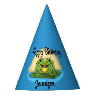 Chapeaux De Fètes Grenouille de joyeux anniversaire sur des