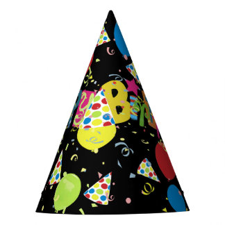 Chapeaux De Fètes Joyeux anniversaire joyeux noir