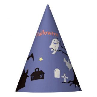 Chapeaux De Fètes Scène de Halloween avec des sorcières et des