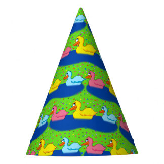 Chapeaux De Fètes Trois canards empaquettent des casquettes de