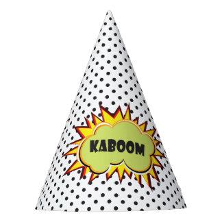 Chapeaux De Fètes Typographie de Kaboom d'art de bruit rétro