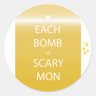 Chaque bombe est autocollant effrayant de lundi