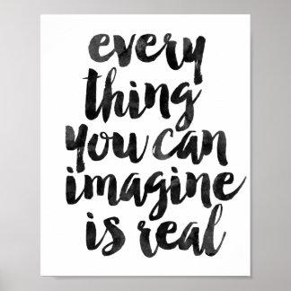 Chaque chose que vous pouvez Imagine est vraie