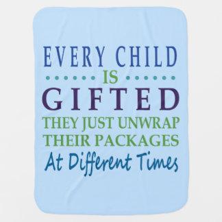 Chaque enfant autiste est doué couvertures de bébé