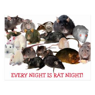 Chaque nuit est la carte postale de l'amant de rat