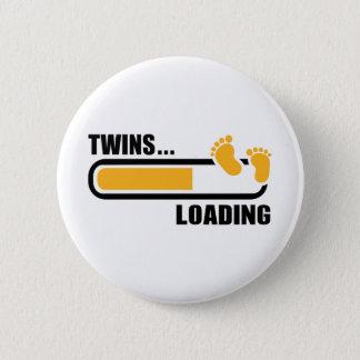 Chargement de jumeaux badge rond 5 cm