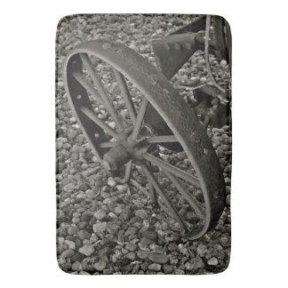 Chariot occidental de tapis de bain rustique