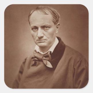 Charles Baudelaire (1821-67), poète français, Sticker Carré