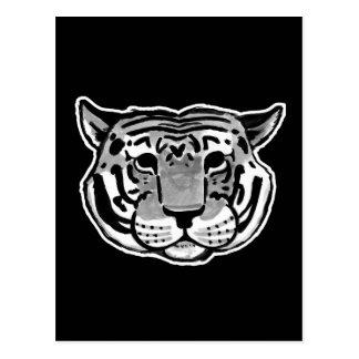 Charles le tigre   choisissent votre couleur carte postale