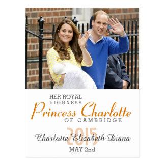 Charlotte Elizabeth Diana - les Anglais veulent Carte Postale