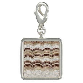 Charme beige de carré de mosaïque breloques avec photo