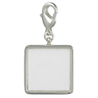 Charme carré de coutume breloque avec photo