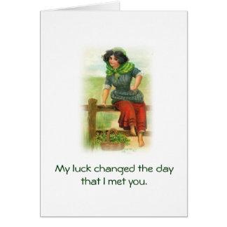 Charme de bonne chance carte de vœux