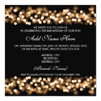 Charme de Hollywood d'or de Mitzvah de barre Carton D'invitation 13,33 Cm