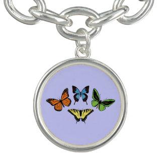 Charme de papillon bracelet