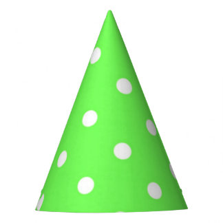 Charme moderne vert et blanc de point de polka chapeaux de fètes