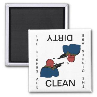 Chasse de l'aimant sale propre de lave-vaisselle magnet carré