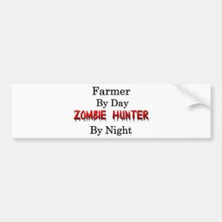 Chasseur d'agriculteur/zombi autocollant de voiture