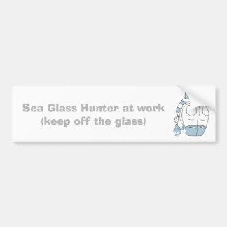 Chasseur de verre de mer au travail… autocollant de voiture