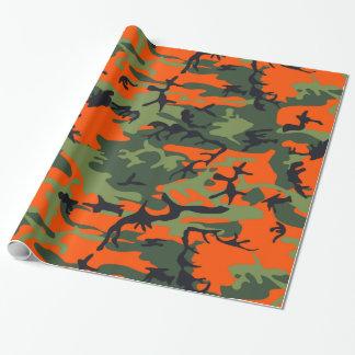 Chasseur d'orange de camouflage papier cadeau