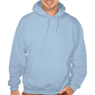 Chasseur drôle de cerfs communs sweatshirts avec capuche
