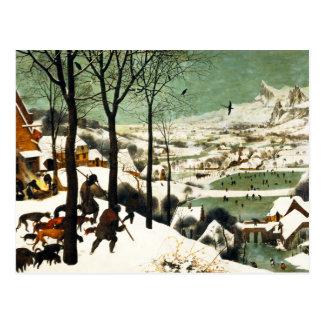 Chasseurs de Pieter Bruegel dans la carte postale