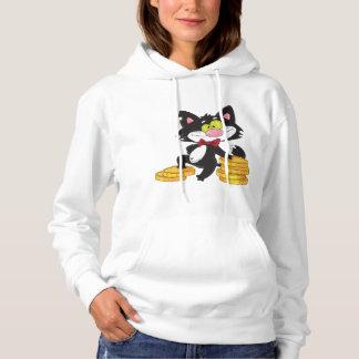 Chat avec le sweat - shirt à capuche des femmes