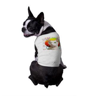 Chat Casper de Devon Rex de blanc du T-shirt |