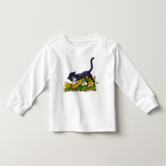 Chat curieux t-shirt pour les tous petits